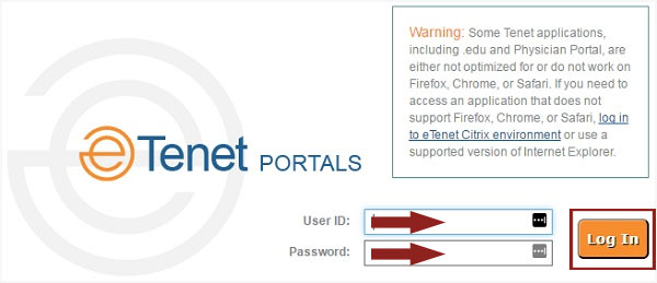 Etenet Login at Etenet.com