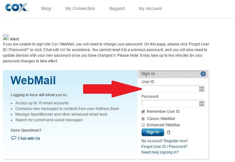 how to set up cox email