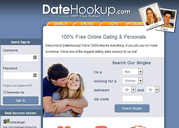 DateHookup Login at www.datehookup.com