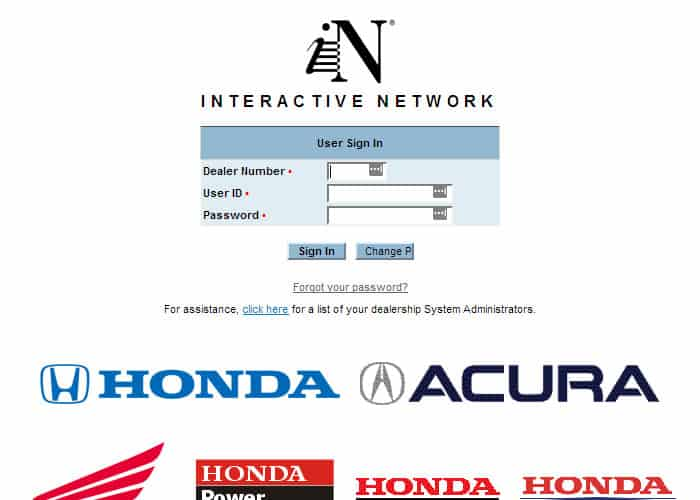 in honda employee login at login wizard