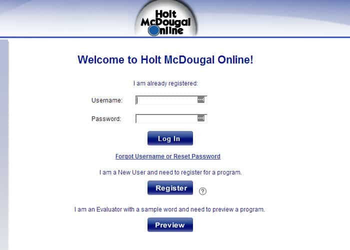 Holt McDougal Login Guide