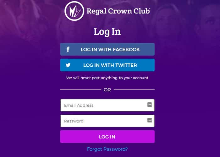 Regal Crown Club Login at www.regmovies.com