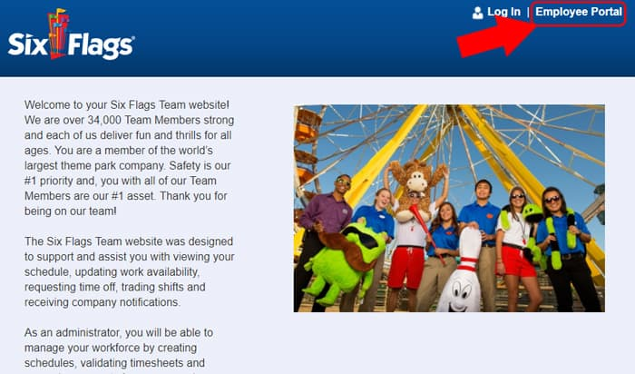 six flags homepage