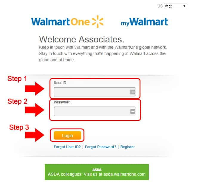 Image result for ASDA WalmartOne Login