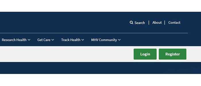 MyHEalthVet Login Button