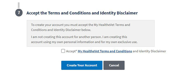 MyHealthVet Register